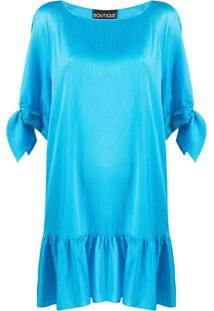 Boutique Moschino Vestido Com Detalhe De Nó Nas Mangas - Azul