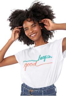 Camiseta Lez A Lez Bordada Branca