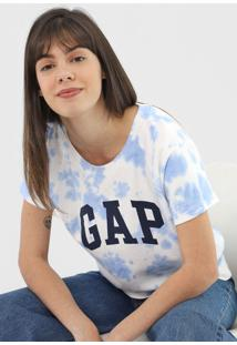 Blusa Gap Tie Dye Off-White/Azul