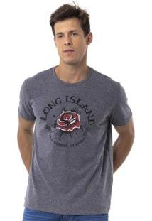 Camiseta Long Island Rose - Masculino-Grafite