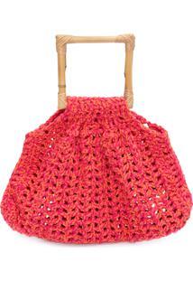 Bolsa Feminina Amanda Crochet - Rosa