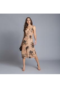 Vestido Com Alças Mídi Botões Venice - Lez A Lez