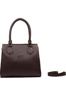 Bolsa Em Couro Recuo Fashion Bag Chocolate