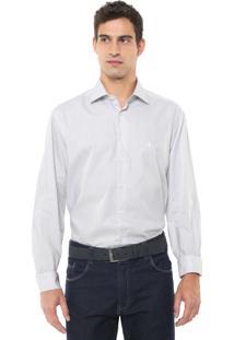 Camisa Dudalina Reta Listrada Branca