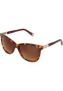 Óculos De Sol Forum F001F0534 Degradê Feminino - Feminino-Marrom