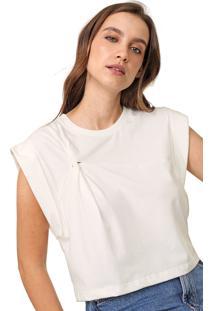 Camiseta Colcci Torção Branca