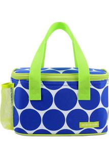 Bolsa Térmica Poá- Azul & Verde Limão- 13X21,5X13Cm