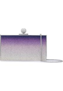 Sophia Webster Clutch Degradê Com Cristais - Azul