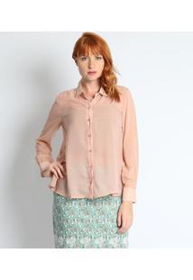 Camisa Lisa Com Termocolantes- Nude - ÊNfaseãŠNfase