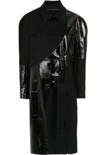 Gloria Coelho Trench Coat Envernizado Com Amarração - 1002