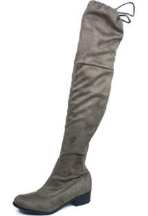 Bota Lelive Over The Knee Stretch Cinza