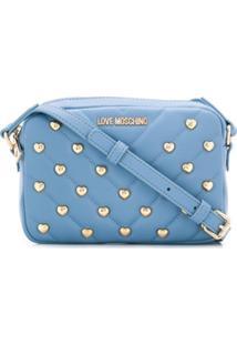 Love Moschino Bolsa Transversal Com Tachas - Azul