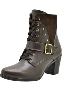 Bota Atron Shoes Ankle Boot Café