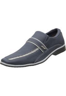 Sapato Social Venetto Recortes Azul