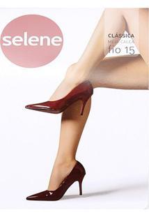 Meia Calça Selene Clássica Fio 15 Feminina - Feminino-Marrom