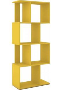 Estante Para Livros Com Nichos Esm218 Movelbento Amarelo