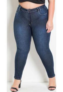 535405beb ... Calça Jeans Cigarrete Plus Size Levanta Bumbum