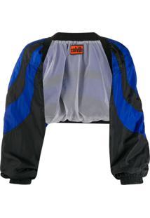 Colville Colour Block Cropped Jacket - Preto