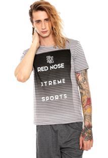 Camiseta Red Nose Xtreme Cinza/Branca