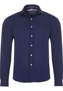 Camisa Masculina Maquinet Losango - Azul