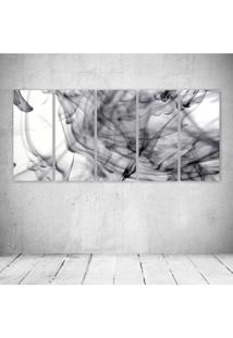 Quadro Decorativo - Abtract Art Smoke - Composto De 5 Quadros - Multicolorido - Dafiti