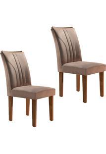 Conjunto Com 2 Cadeiras Belle Chocolate E Pena