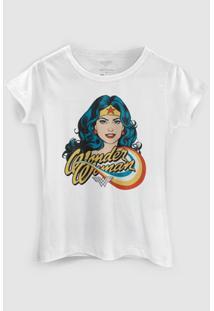 Camiseta Dc Comics Mulher Maravilha Photo Bandup! - Feminino-Branco