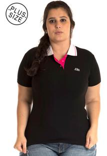 Camisa Polo Konciny Plus Size Rosa
