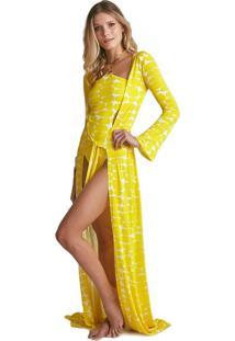 Robe Sixty Estampa Leblon Amarelo