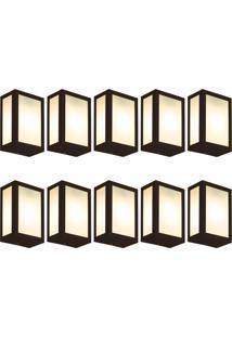 Arandela Fox Marrom Kit Com 10 Casah - Marrom - Dafiti