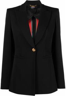 Versace Blazer Com Abotoamento Simples - Preto