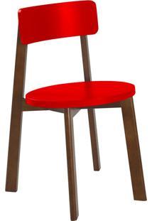 Cadeira Lina 75 Cm 941 Cacau/Vermelho - Maxima