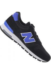 Tênis New Balance Ml565 Camurça - Masculino - Preto/Azul