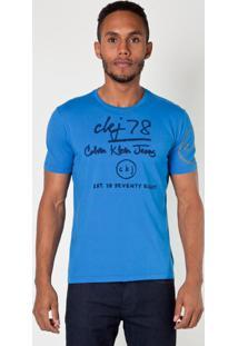 Camiseta Calvin Klein Jeans M/C Ckj 78 Azul