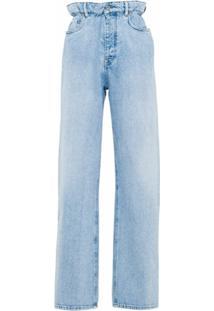 Miu Miu Calça Jeans Reta Cintura Alta - Azul