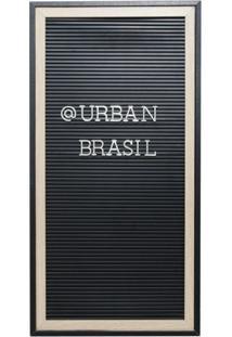 Quadro Decorativo Urban Preto E Prateado 50,8X25,4X2 Cm