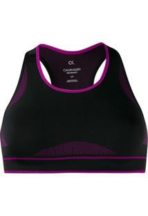 Calvin Klein Underwear Top Com Decote Nadador - Preto
