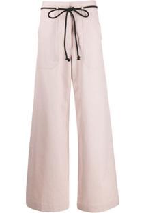 Ann Demeulemeester Drawstring Flared Trousers - Rosa