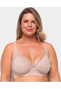 Sutiã Dilady Plus Size Aro - Feminino-Marrom