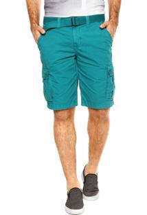 Bermuda Calvin Klein Jeans Cinto Verde