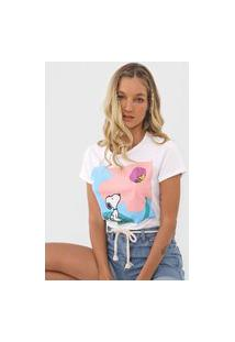 Blusa Snoopy By Fiveblu Snoopy E Woodstock Off-White