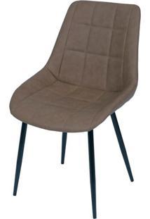 Cadeira Lounge Courino Cafe Com Costura Quadriculada - 50019 - Sun House