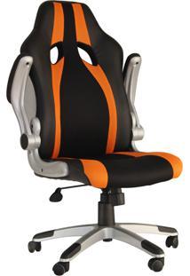Cadeira Office Speed Preta E Laranja Rivatti Móveis