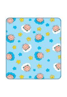 Cobertor Turma Da Mônica Baby 90 Cm X 1,10 M 100% Algodão - Cebolinha