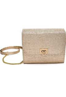 Clutch Dona Constance Palha Ouro