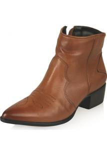 Bota Cano Curto Paola Constance Country Chic Whisky