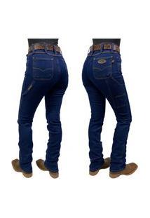 Calça Jeans Feminina Carpinteira Race Bull Stone Ref:022 St