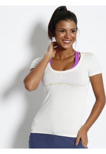 """Blusa """"Scusami"""" Com Termocolantes- Off White & Verdephysical Fitness"""