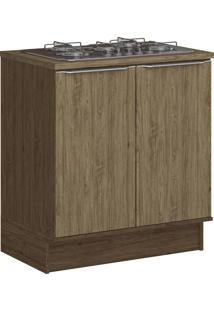 Armário De Cozinha 2 Portas Com Rodapé 4031R Cedro/Wood - Decibal Móveis