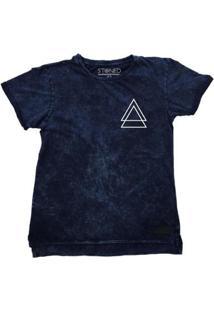 Camiseta Longline Stoned Estonada Triple Triangle Masculina - Masculino-Marinho